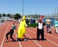 OVS students Charlie Bird, Carolita Landers, and Miles Munding-Becker at a previous Relay for Life event.