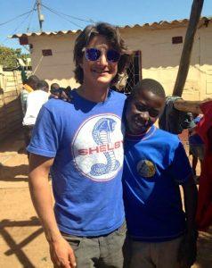 Mizrahi with a local Zimbabwean/