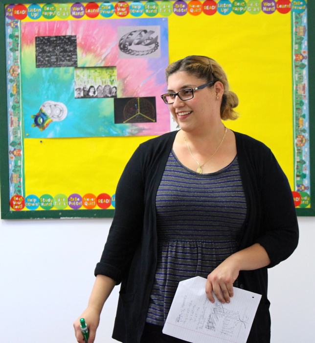 Math teacher Cristina Rojas has thrown herself into her new role at OVS -- Photo by Lauren Rothman