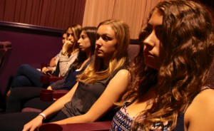 OVS student-journalists listen in as E-Team documentarians answer questions about their film -- Photo by Kai Lin