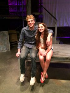 Gavin and Avery backstage at the opening night or Rent -- Photo by Ally Feiss