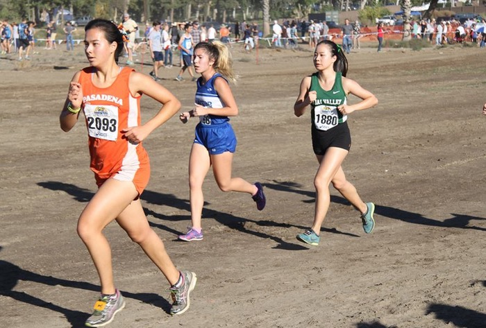 Junior Gilim Bae, the school's top runner all season, set a personal best on the Riverside Cross Country course -- Photo by Momoe Takamatsu