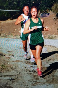 Senior captain Ally Feiss powers to a 10th place finish at the Condor League final -- photo by John Boyd