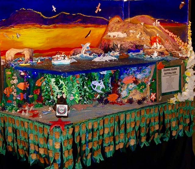 "The combined entry, by Ojai Valley School and Channel Islands National Park, took top honors in the National Park Service's ""virtual float"" parade -- Photo by Patty Campbell"