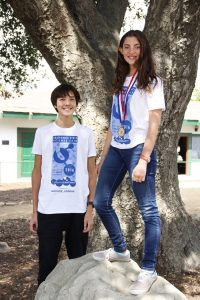 Ojai Valley School students Aaron Wolf and Bella Slosberg took part this week in the California State Science Fair. Slosberg's project took first place in the fair's Junior Zoology Division. – Photo by Misty Volaski