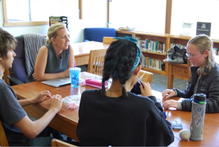 Mrs. Nishiya y regularl meets with students to share her passion for books and reading -- Photo by Clover Griffin