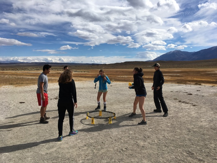OVS students engage in a game of Spikeball and 11,000-feet of elevation on a recent outdoor education trip to the eastern Sierra Nevada -- Photo by Zach Byars