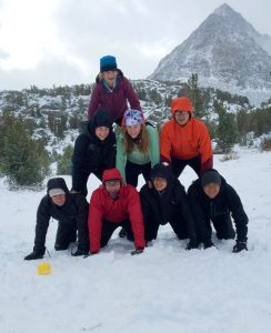 The eight OVS backpackers made the most of their snowy experience -- Photo by Zach Byars