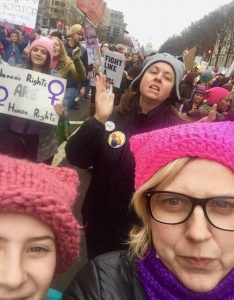 Ojai residents Kirsten Stoltmann and her daughter Violet at the Women's March in Washington, D.C. – Photo submitted by Kirsten Stoltmann